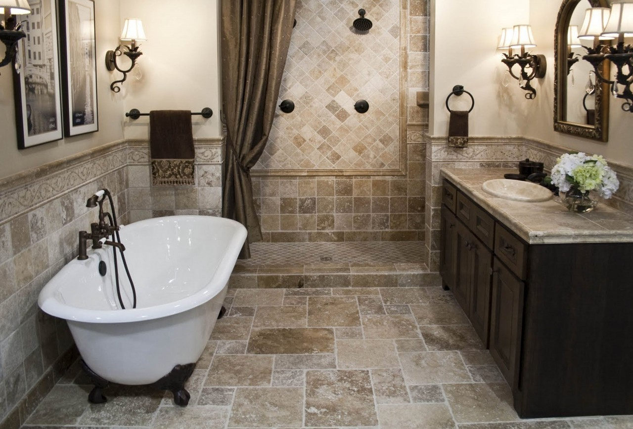 bathroom-simple-bathroom-remodel-ideas-with-brown-granite-tile-flooring-also-half-wall-included-dark-brown-sink-cabinet-as-well-as-bathroom-remodel-ideas-and-bathroom-design-featuring-stunning-images