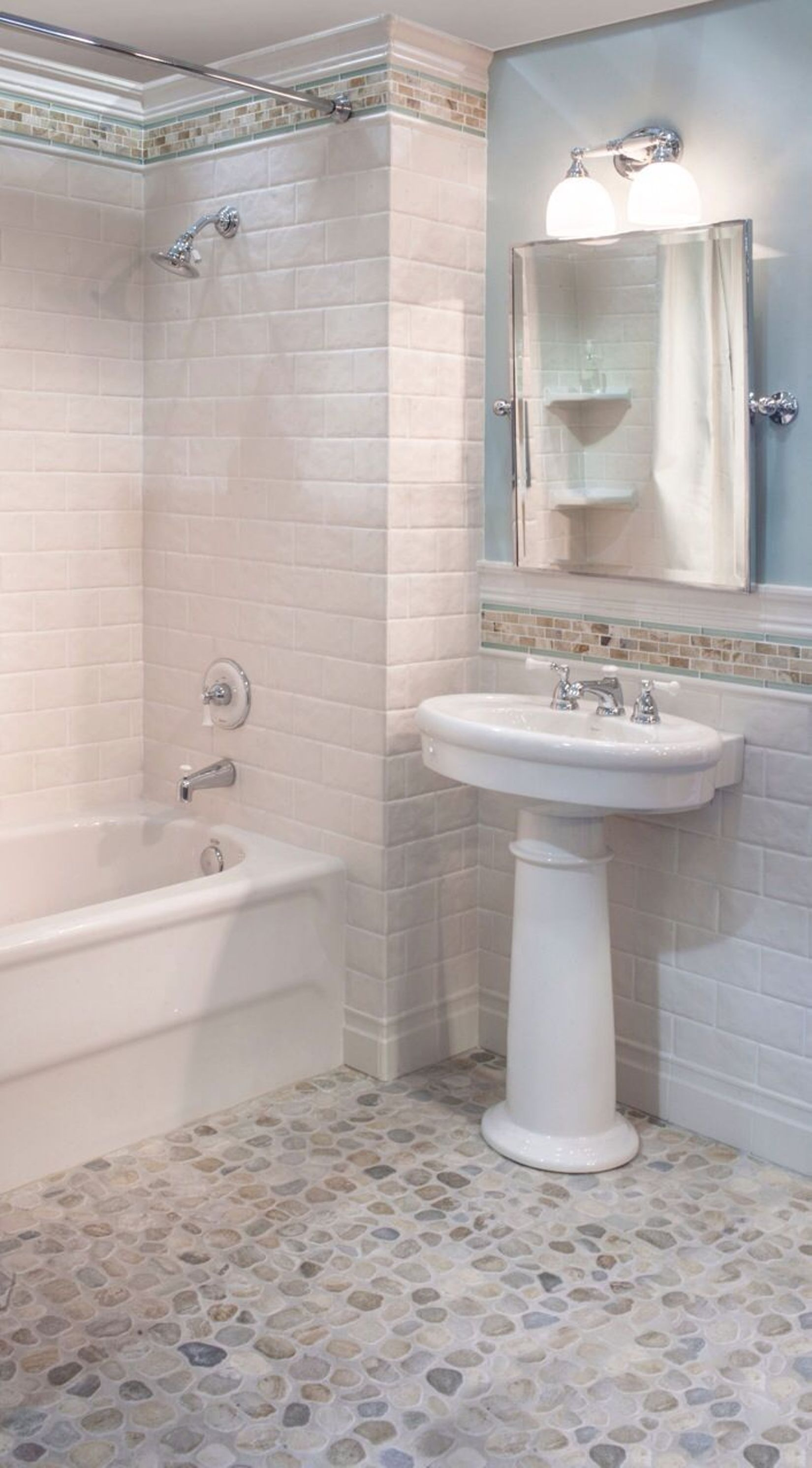 ... Bathroom Tile Ideas With Pebble Rocks On The   Bd504af2bd38971ca49ab490ef44c357 ...