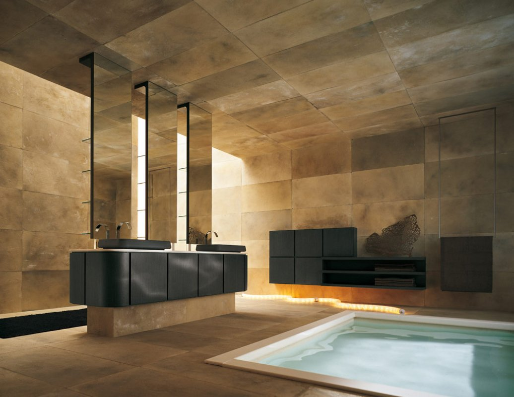 best-modern-spacious-high-end-bathroom-tiles-interior-design-decorating-ideas-with-small-pool-indoor-also-dark-cabinets-and-marble-tiles-dream-homes