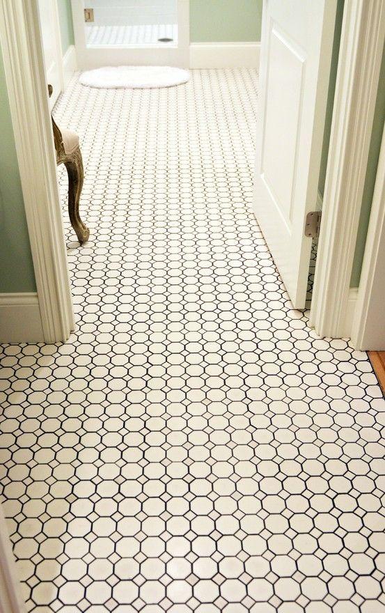30 Ideas For Hexagon Ceramic Bathroom Tile