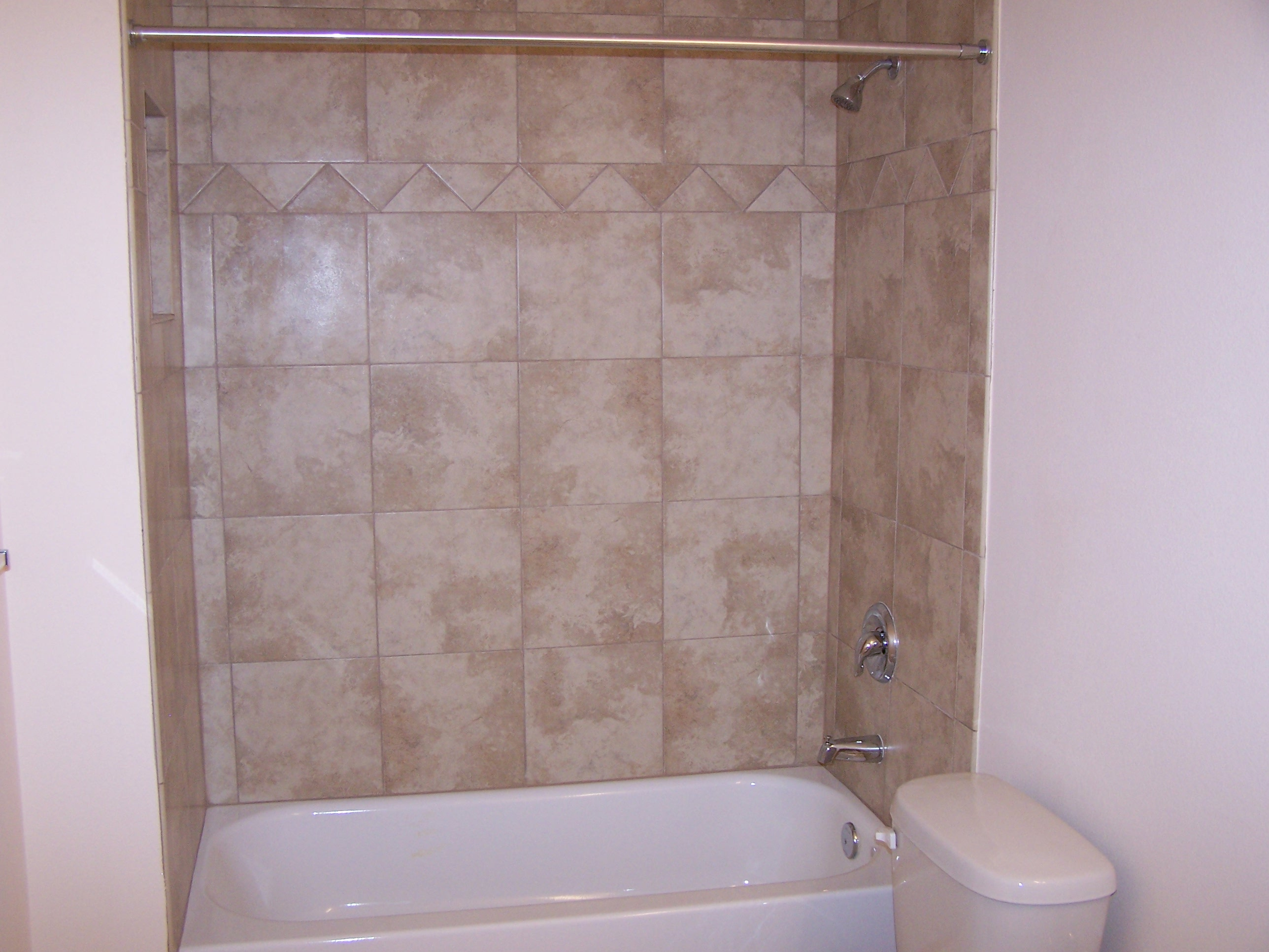 Ceramic Tile Bathroom Wall Ideas Part - 39: ... Ceramic-tile-decorative-bath-enclosure ...