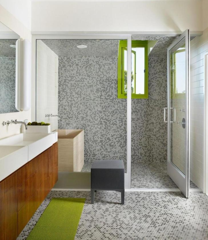 decoration-interior-bathroom-ultimate-grey-mosaic-tile-ceramic-wall-in-bathroom-also-one-piece-toilet-and-brown-wooden-bath-vanity-along-with-frameless-glass-shower-door-terrific-bat