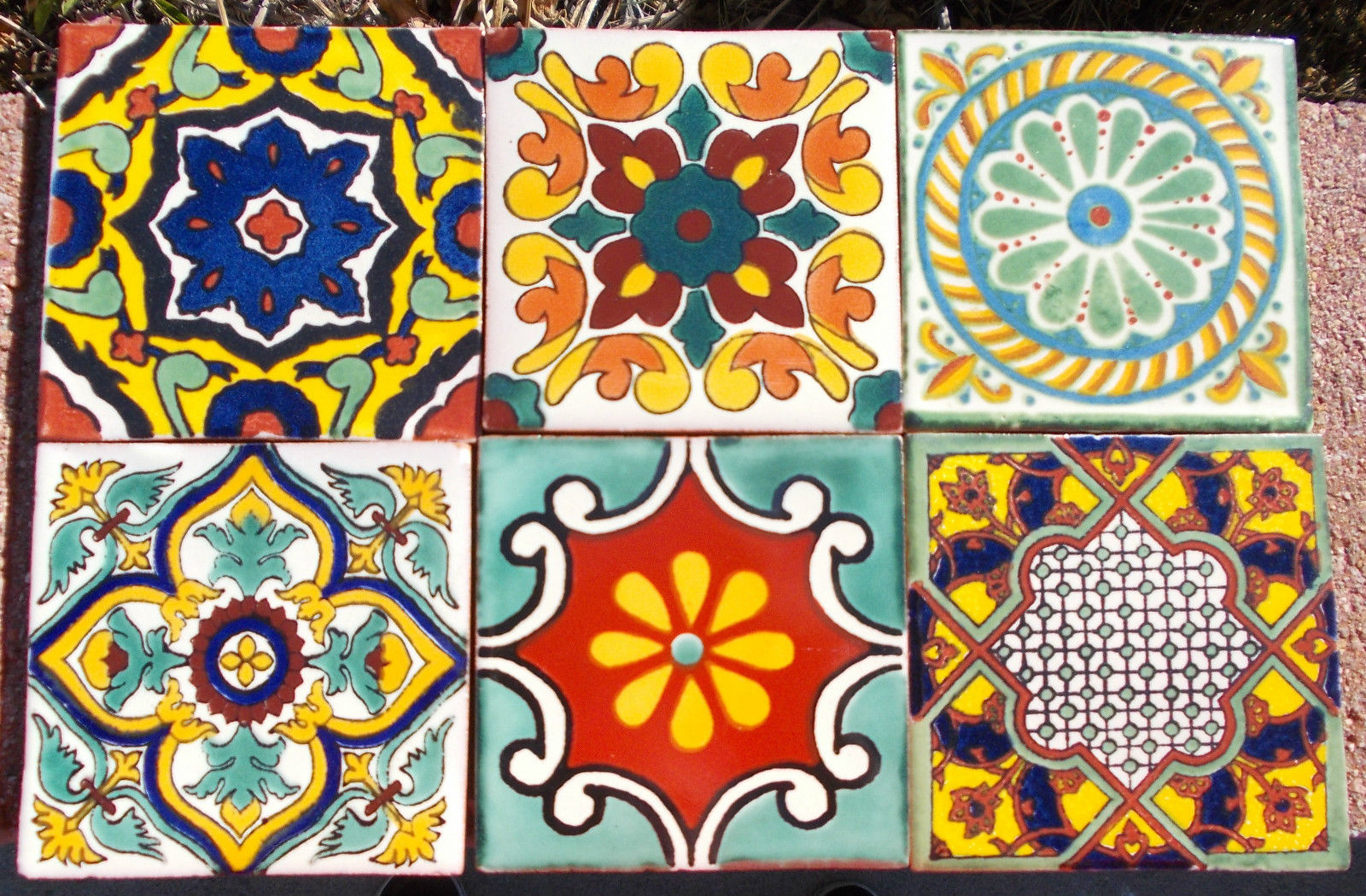 decorative floor tile 1 hand painted mexican tile - Decorative Wall Tiles