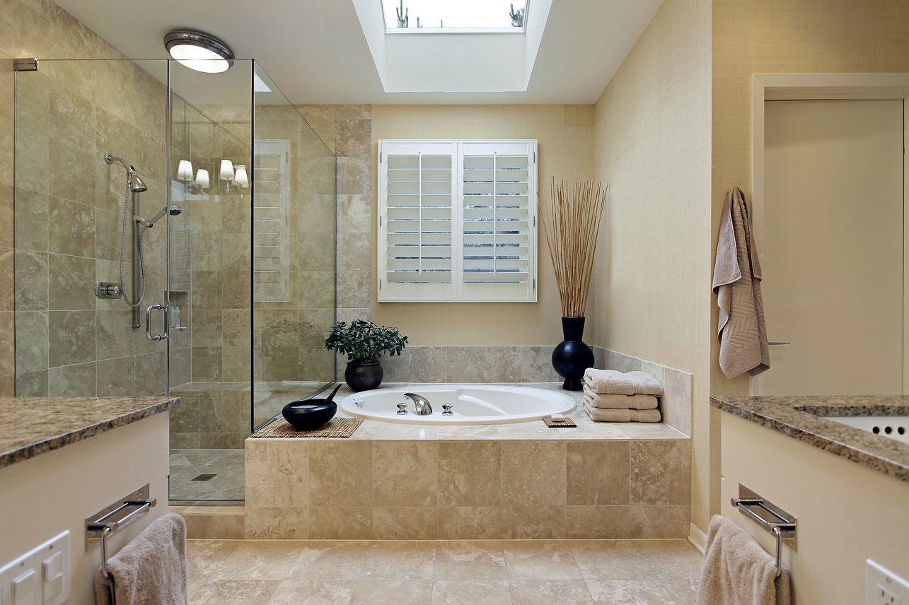 elegant-master-bathroom-design-natural-stone-wall-tile-beige-marble-bathtub-cover-bathroom-design-marble-wall-tile-natural-stone-tile-master-bathroom-frameless-shower-stall-glass-shower-cubicle-a