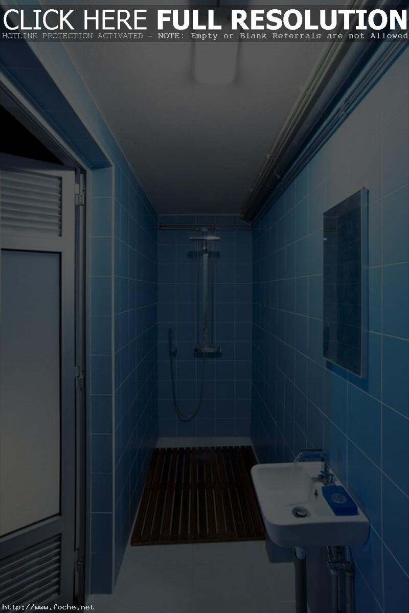 excellent-blue-bathroom-ideas-digital-photography-with-mosaic-bathroom-floor-tile-and-doorless-shower-design-also-white-porcelain-bathroom-floor-tiles