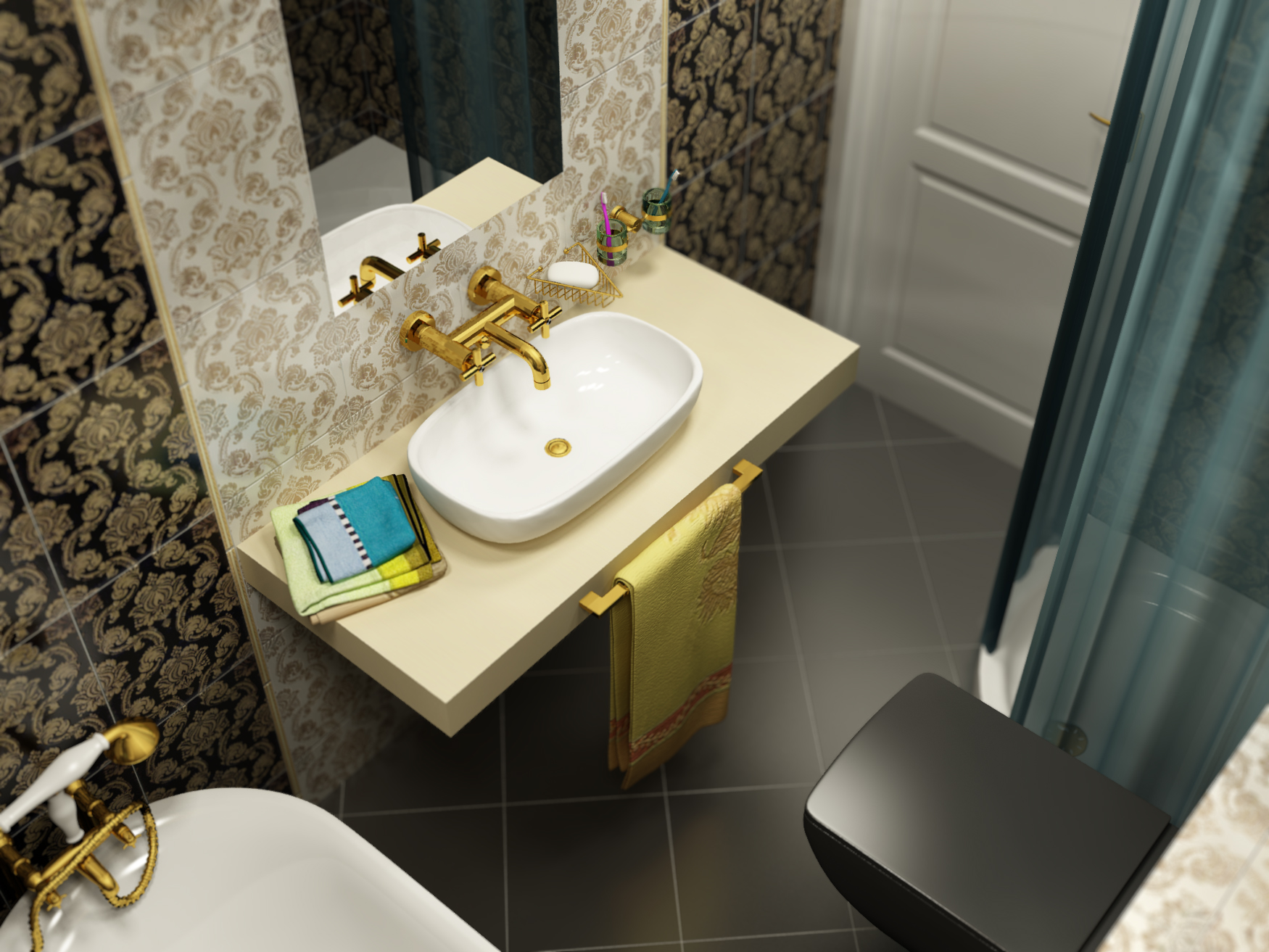 exclusive-classic-bathroom-black-tiles-flooring-decorative-floral-bathroom-ideas-bathroom-black.com-room-tiles-tiles-floor-44378