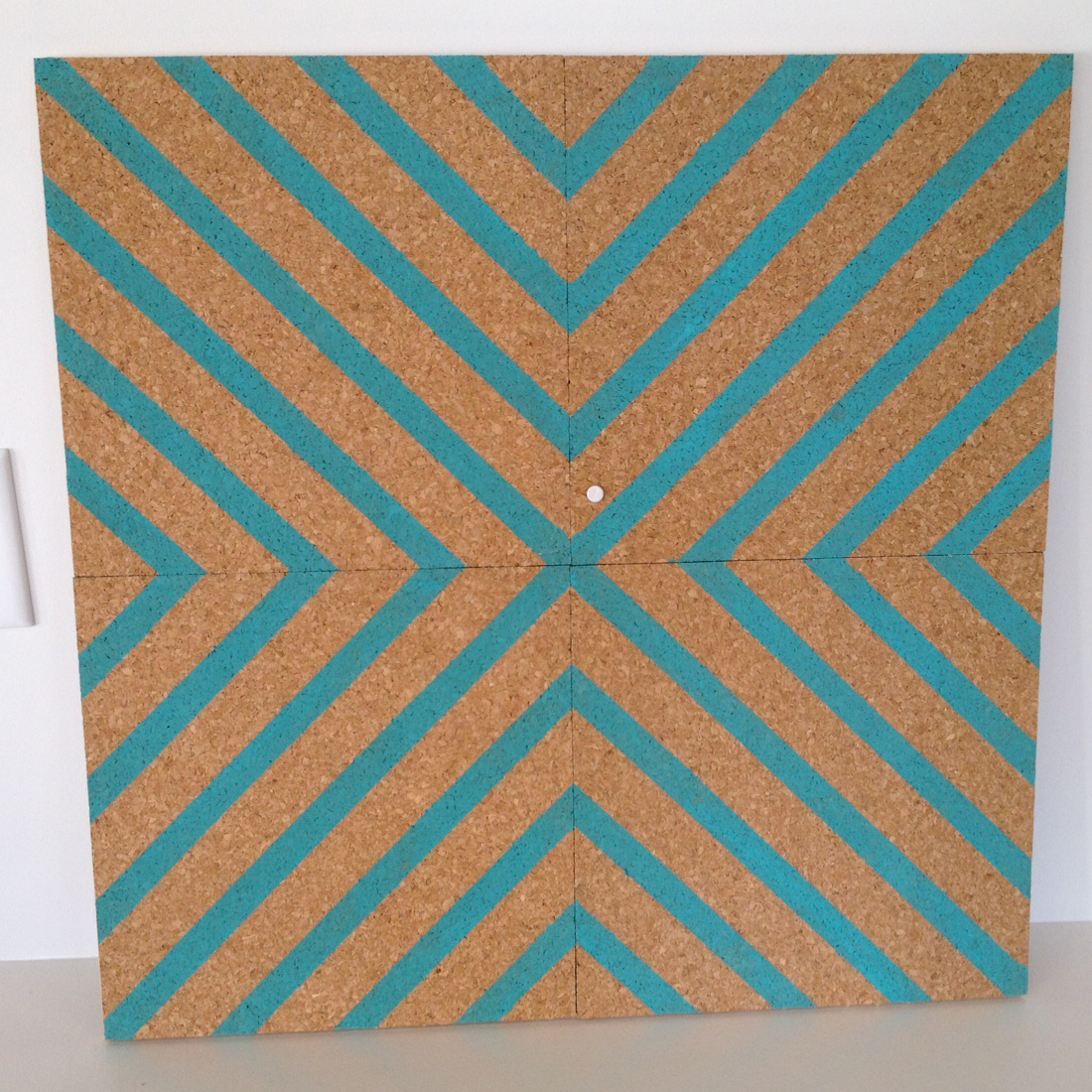 ... Floor Design Appealing Image Of Square Turquoise Cork  ...