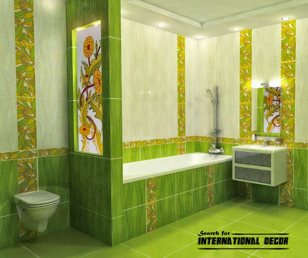 green-ceramic-tile-for-bathroom