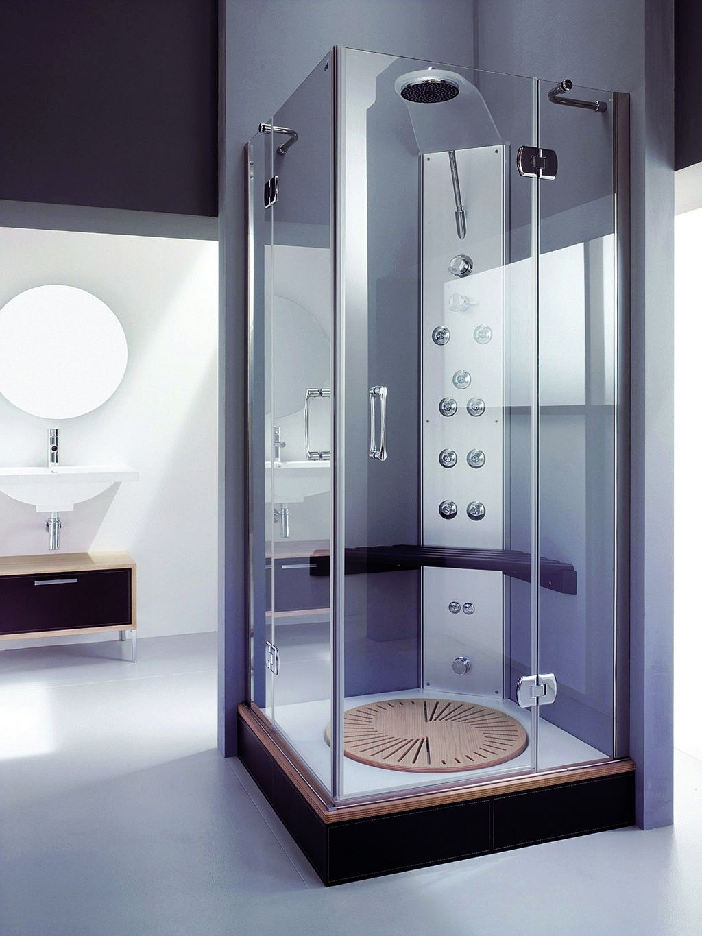 ... High End Corner Shower Stall For Amazing Small  ...