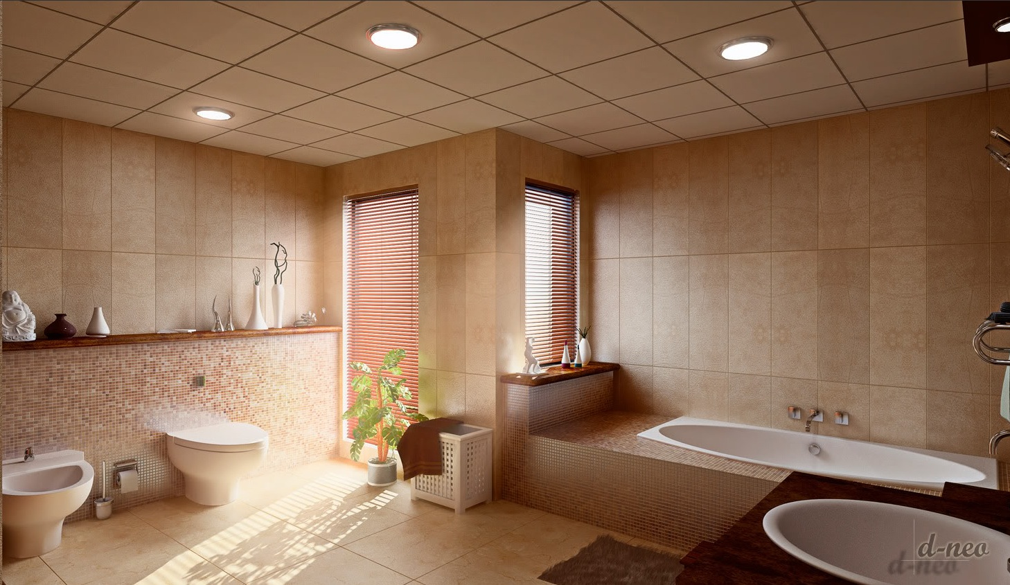 25 great ideas and pictures cool bathroom tile designs ideas for Bathroom ceiling ideas