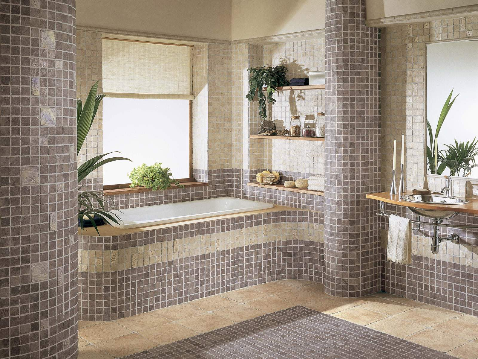 interior-design-luxury-remodel-bathroom-ideas-showing-white-rectangular-bathtubs-under-glass-windows-by-blinds-near-natural-wooden-shelves-as-well-as-bathroom-remodel-also-bathroom-vanities