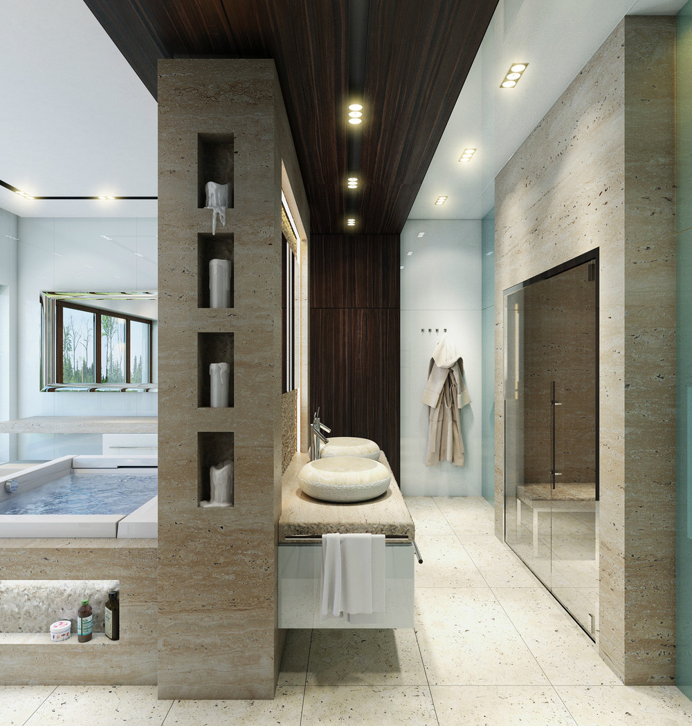 luxury-bathroom-layout-design-ideas-using-cream-marble-tile-ceilings-lamp-marble-wall-layer-white-porcelain-ceramics-tile-glass-rectangular-mirror-wooden-storage-luxury-bathrooms-bathroom-elegant-lu