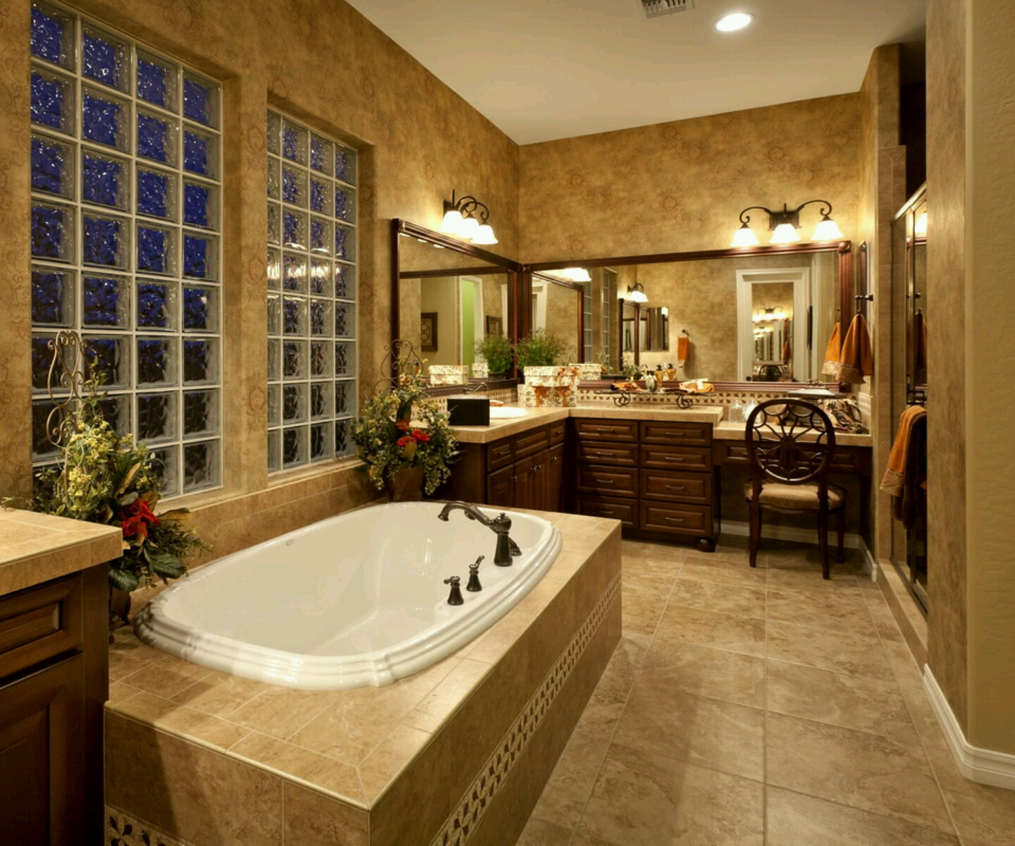 30 cool ideas and pictures custom shower tile designs for Luxury master bath designs