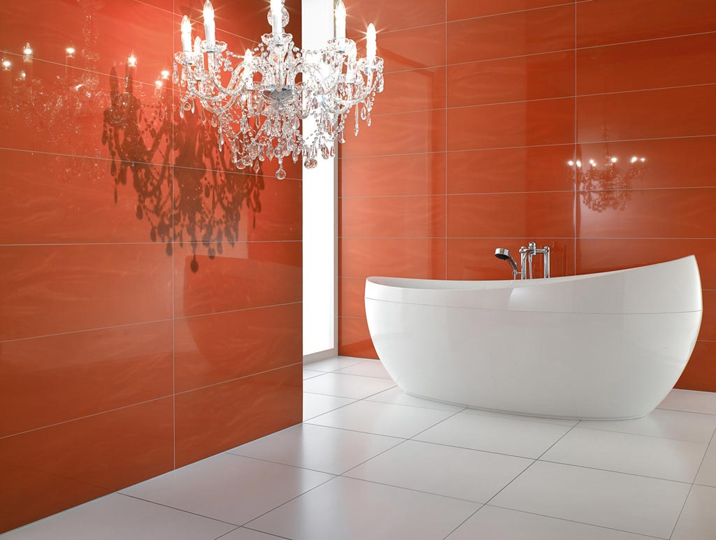 marvelous-soft-red-bathroom-design-ideas-white-modern-oval-corian-bathtub-design-with-freestanding-spout-corian-bathtub-large-white-ceramic-tiles-floor-red-ceramic-tile-wall-crystal-chandelier1