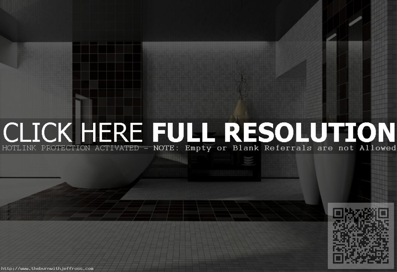 modern-luxury-bathroom-design-showing-grey-black-square-pattern-ceramic-tile-flooring