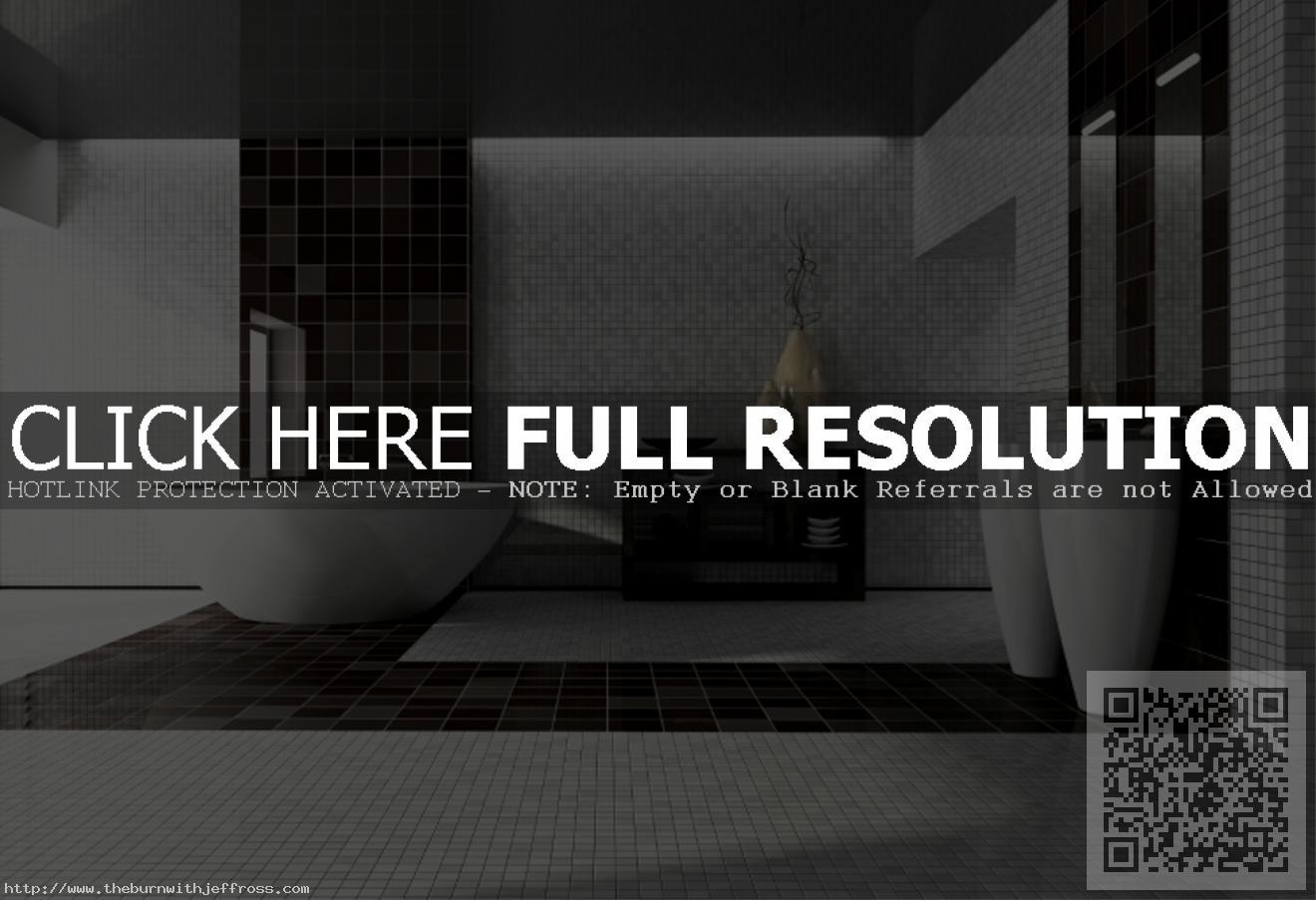 modern-luxury-bathroom-design-showing-grey-black-square-pattern-ceramic-tile-flooring
