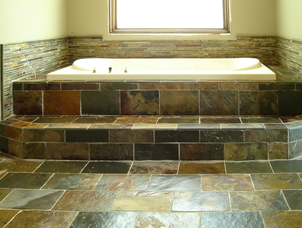 30 great ideas and pictures of bathroom tiles cork for Ideas for bathroom flooring