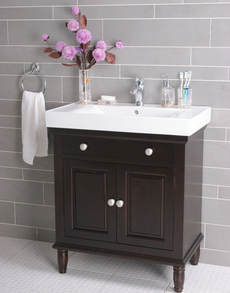 simple-style-bathroom-minimalist-lowes-bathroom-tile-design-24-inch-black-bathroom-vanity-white-gloss-ceramics-countertop-gray-laminate-wall-tile-decor