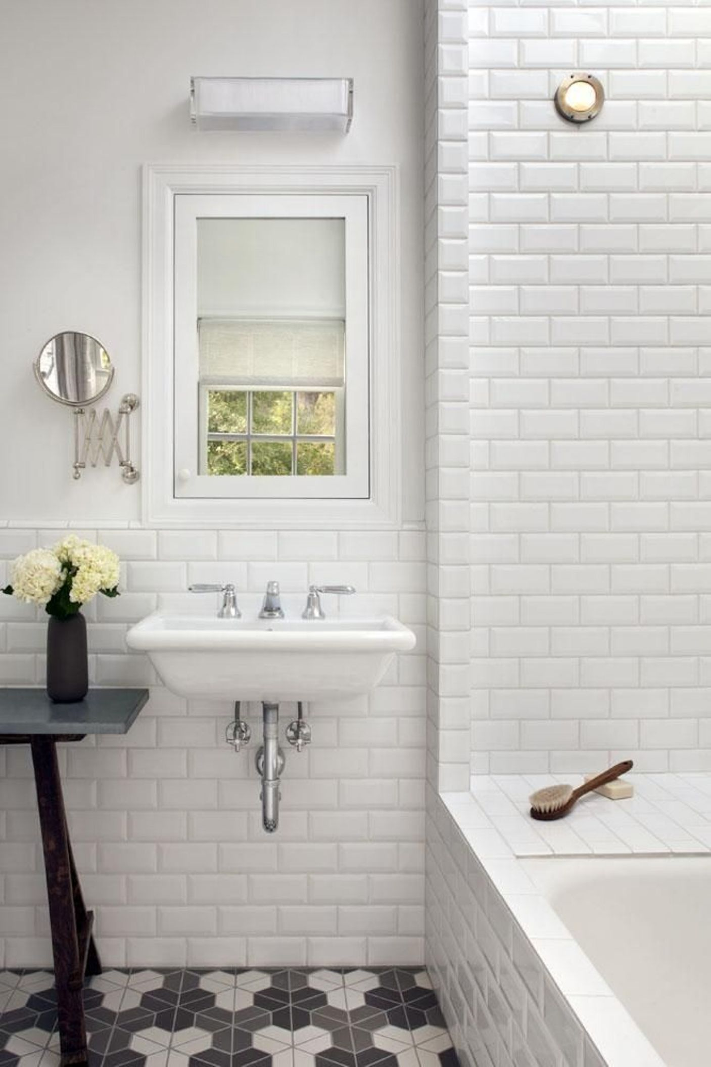30 ideas on using hex tiles for bathroom floors for Design your own bathroom tiles