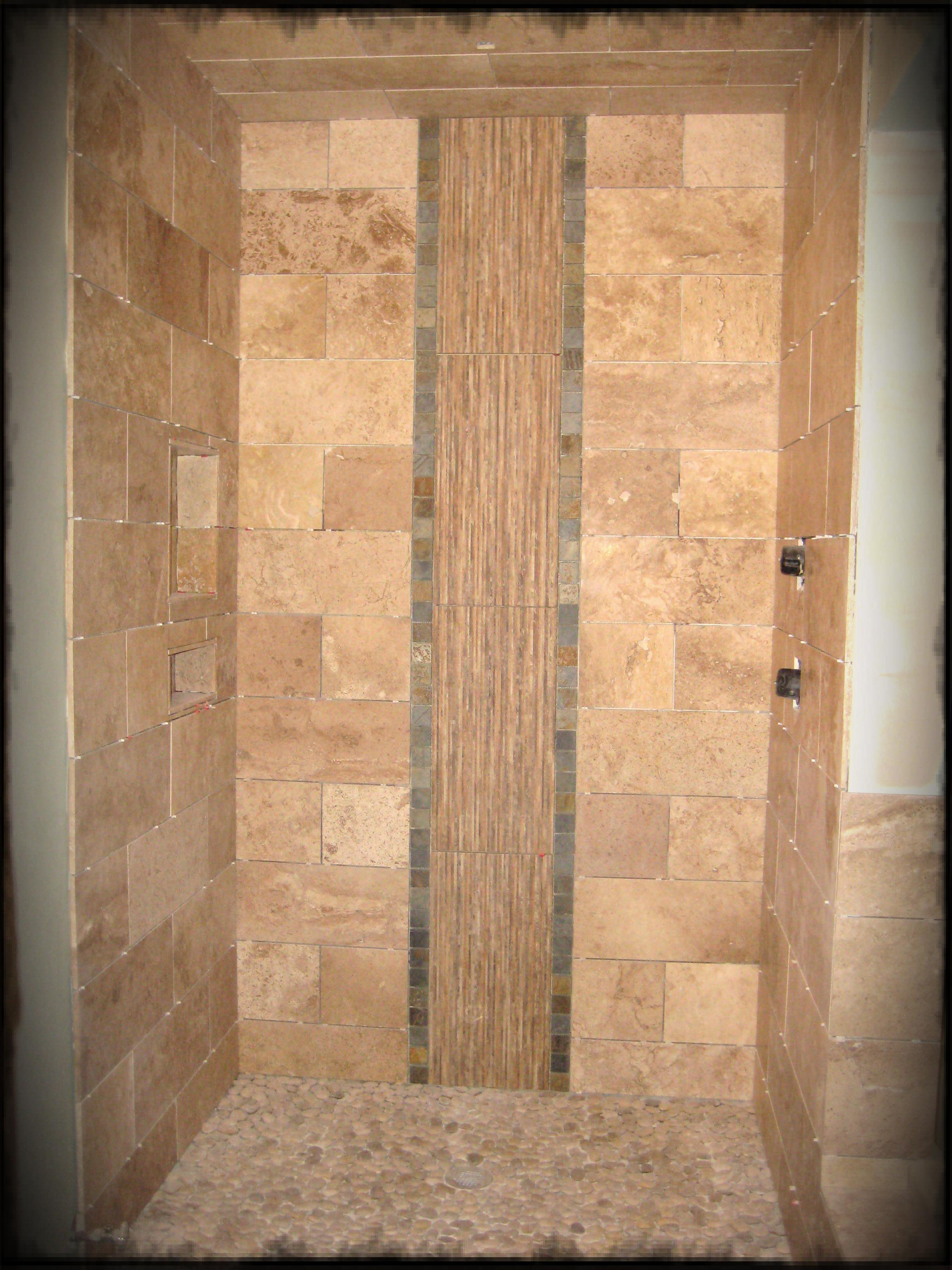 30 cool ideas and pictures custom shower tile designs for Tile shower floor ideas
