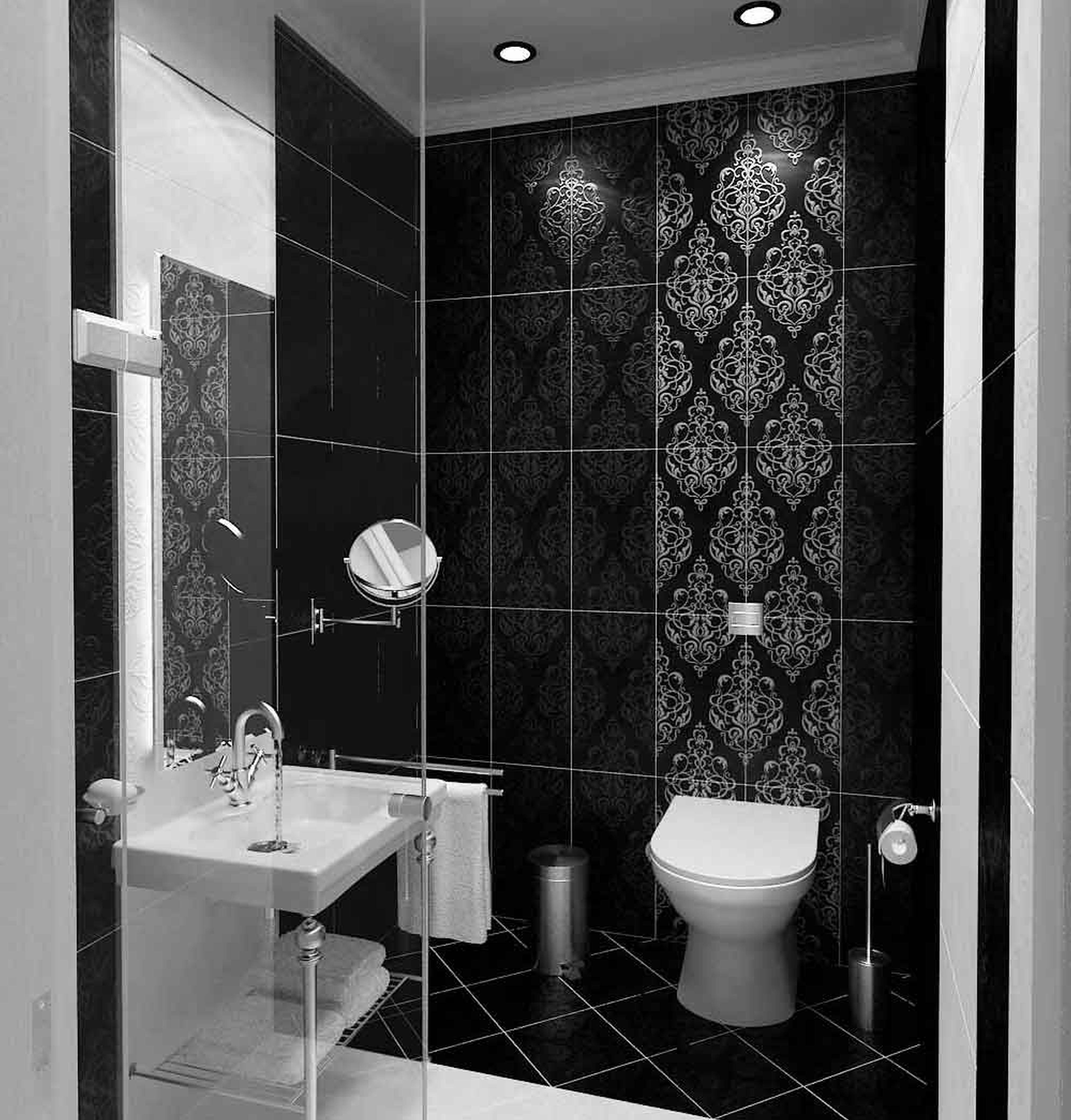 Black-And-White-Bathroom-Design-Classic-of-Decor-Black-And-Idea