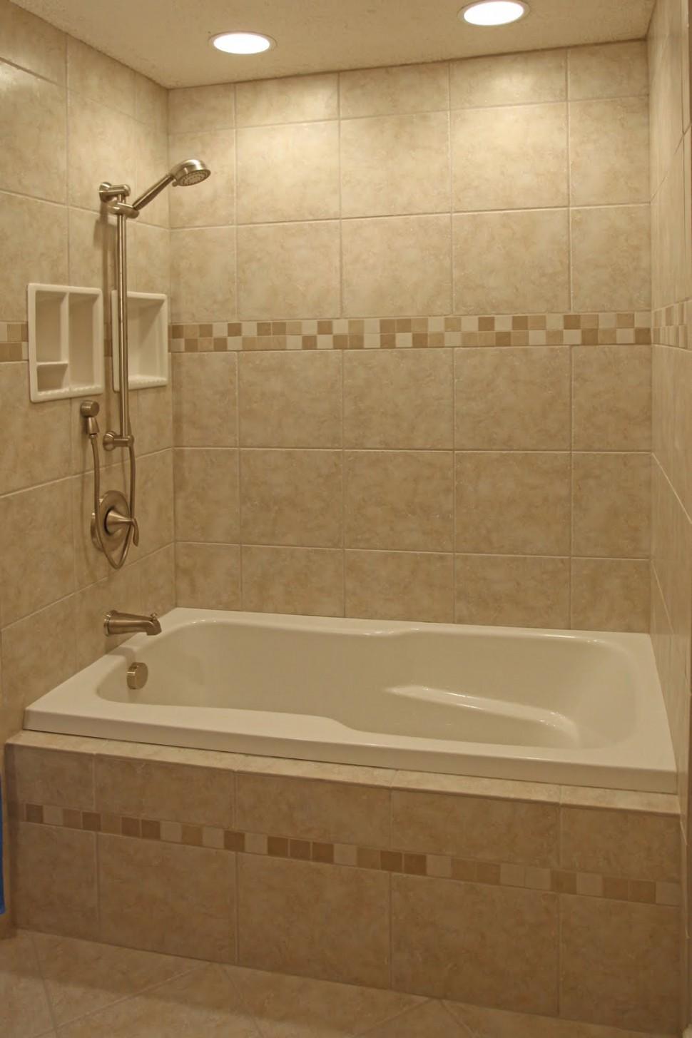 Elegant-Small-Bathroom-Tile-Ideas-with-White-Bathtub-Design-Finished-in-elegnat-Design-with-Interated-Shower-and-Bathtub-Idea-970x1455