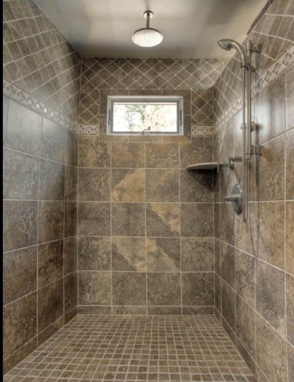 30 shower tile ideas on a budget for Images of bathroom tile ideas