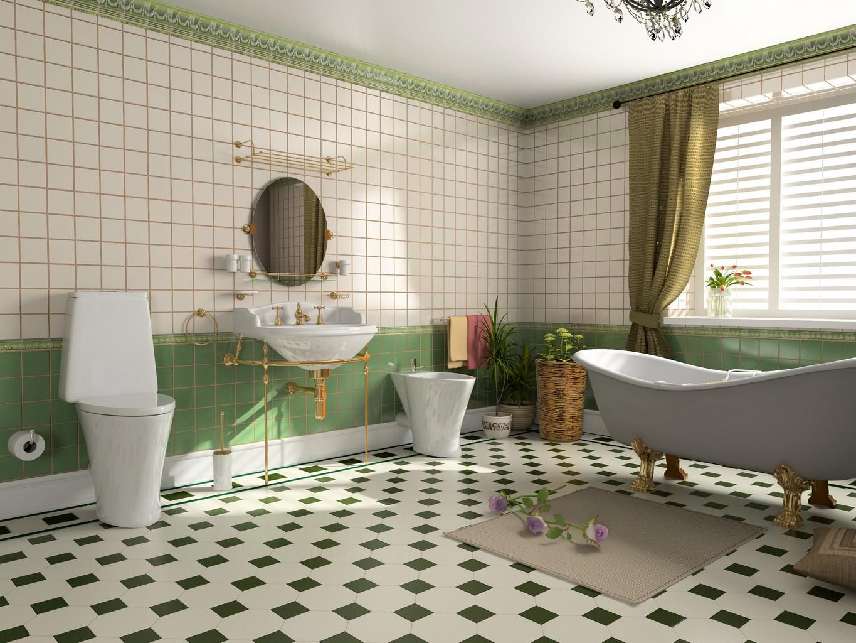 modern bathroom interior (3d rendering)