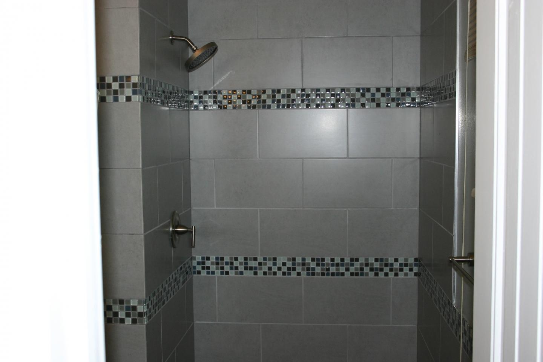... Amusing Gray Color Wall Tile Bathroom Design Ideas  ...