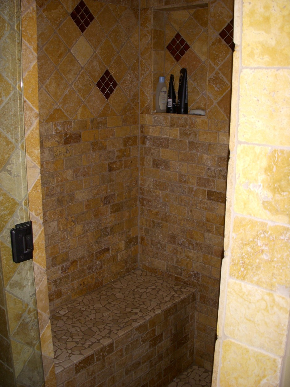 30 pictures of bathroom wall tile 12x12 for Travertine tile bathroom gallery