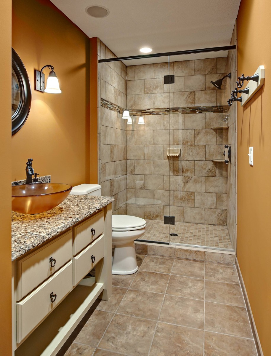 bathroom-lighting-and-golden-wall-plus-wall-lighting-for-small-bathroom-ideas-with-bathroom-floor-tile-ideas-and-seat-toilet-also-freestanding-vanity-with-vessel-sinks-and-glass-shower-door-915x1201