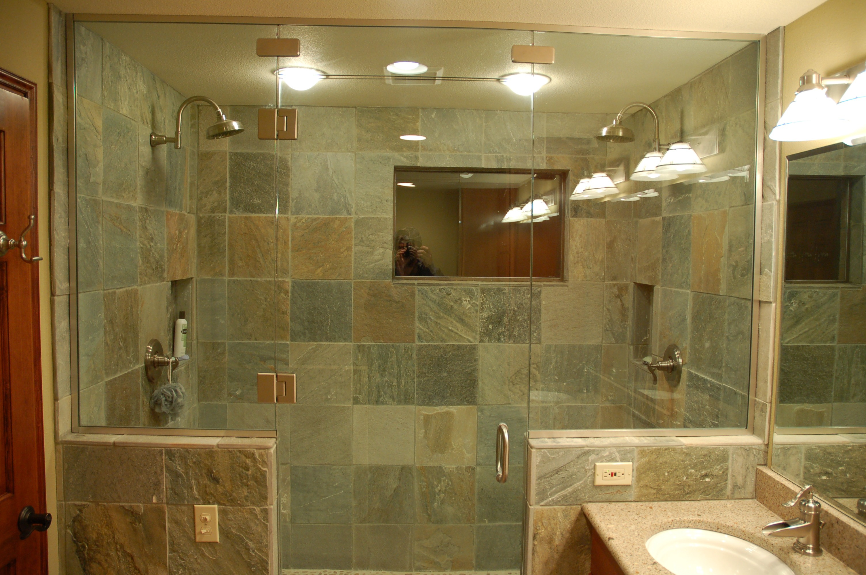 furniture-interior-bathroom-bathroom-decor-ideas-modern-adorable-bathroom-bathroom-ideas-decor-fantastic-slate-shower-wall-tiles-with-glass-door-and-cool-granite-vanity-cute-oval-white-ceramic-underm