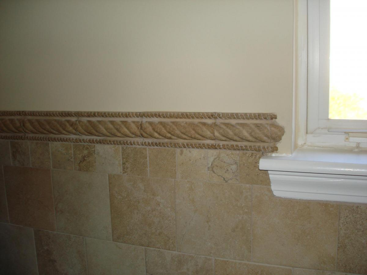 ... Porcelain Bathroom 4ft Wall Brick Pattern ...